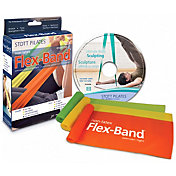 STOTT PILATES Non-Latex Flex-Band Three-Pack with DVD
