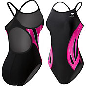 TYR Girls' Pink Phoenix Splice Diamondfit Back Swimsuit