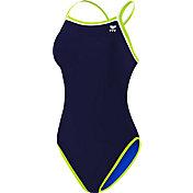 TYR Women's Double Binded Reversible Keyhole Back Swimsuit