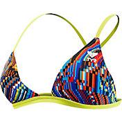 TYR Women's Glitch Triangle Cross Back Swimsuit Top