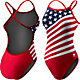 TYR Women's American Flag Crosscutfit Back Swimsuit