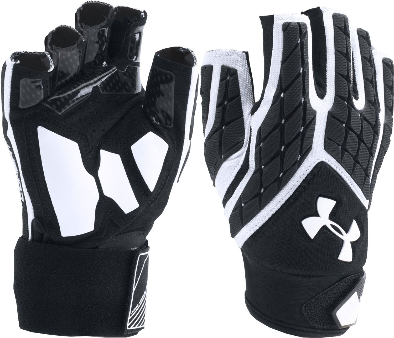under armour nitro gloves. product image · under armour adult combat 5 half finger lineman gloves nitro r