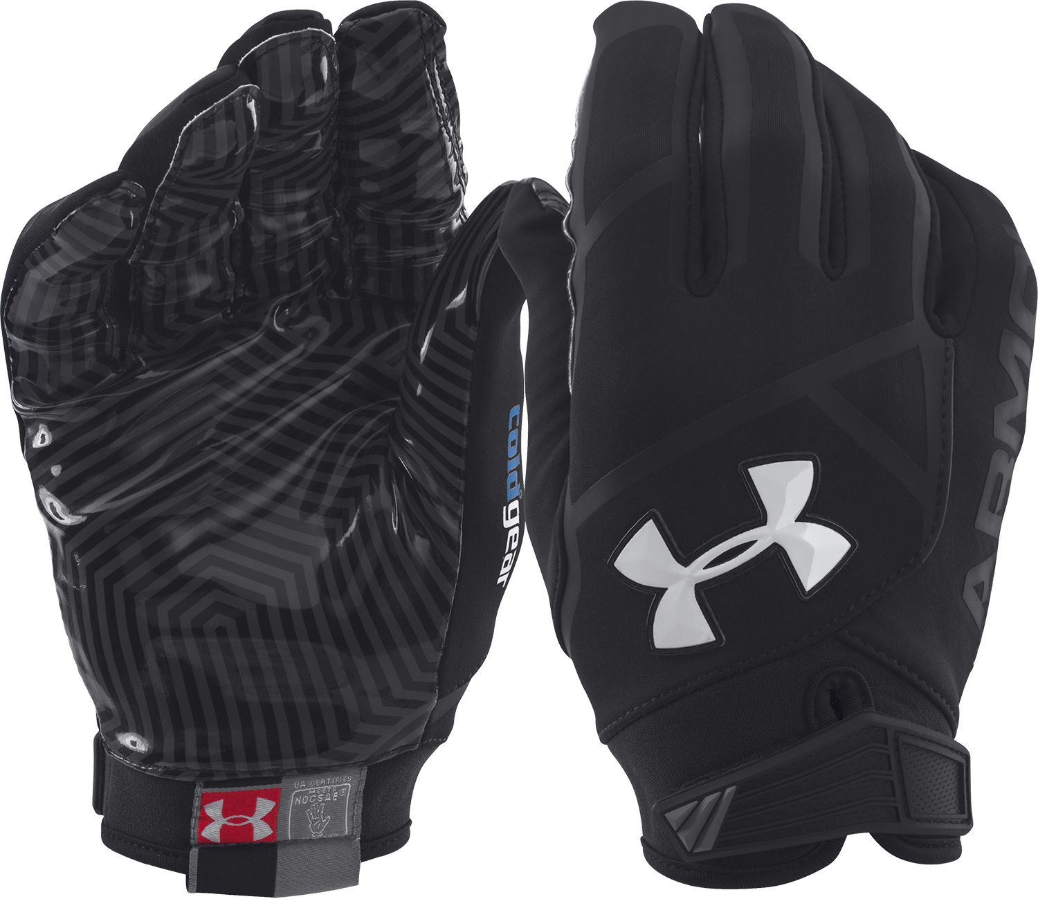 Under armour leather work gloves - Under Armour Football Gloves S Sporting Goods