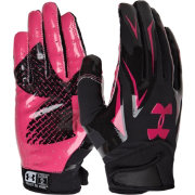 Under Armour Adult F4 Pink Receiver Gloves