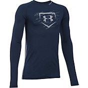 Under Armour Boys' Diamond Long Sleeve Baseball Shirt