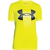 Under Armour Boys' Big Logo Hybrid T-Shirt