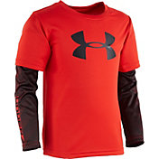 Under Armour Little Boys' Big Logo Power Slider Long Sleeve Shirt