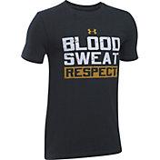 Under Armour Boys' Project Rock Blood, Sweat, Respect T-Shirt