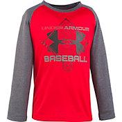 Under Armour Little Boys' Branded Baseball Long Sleeve Shirt