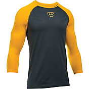 Under Armour Boys' Heater ¾ Sleeve Baseball Shirt
