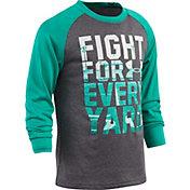 Under Armour Little Boys' Fight For Every Yard Raglan Long Sleeve Shirt
