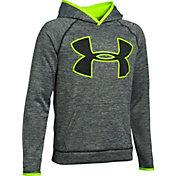 Under Armour Boys' Storm Armour® Fleece Twist Print Highlight Big Logo Hoodie