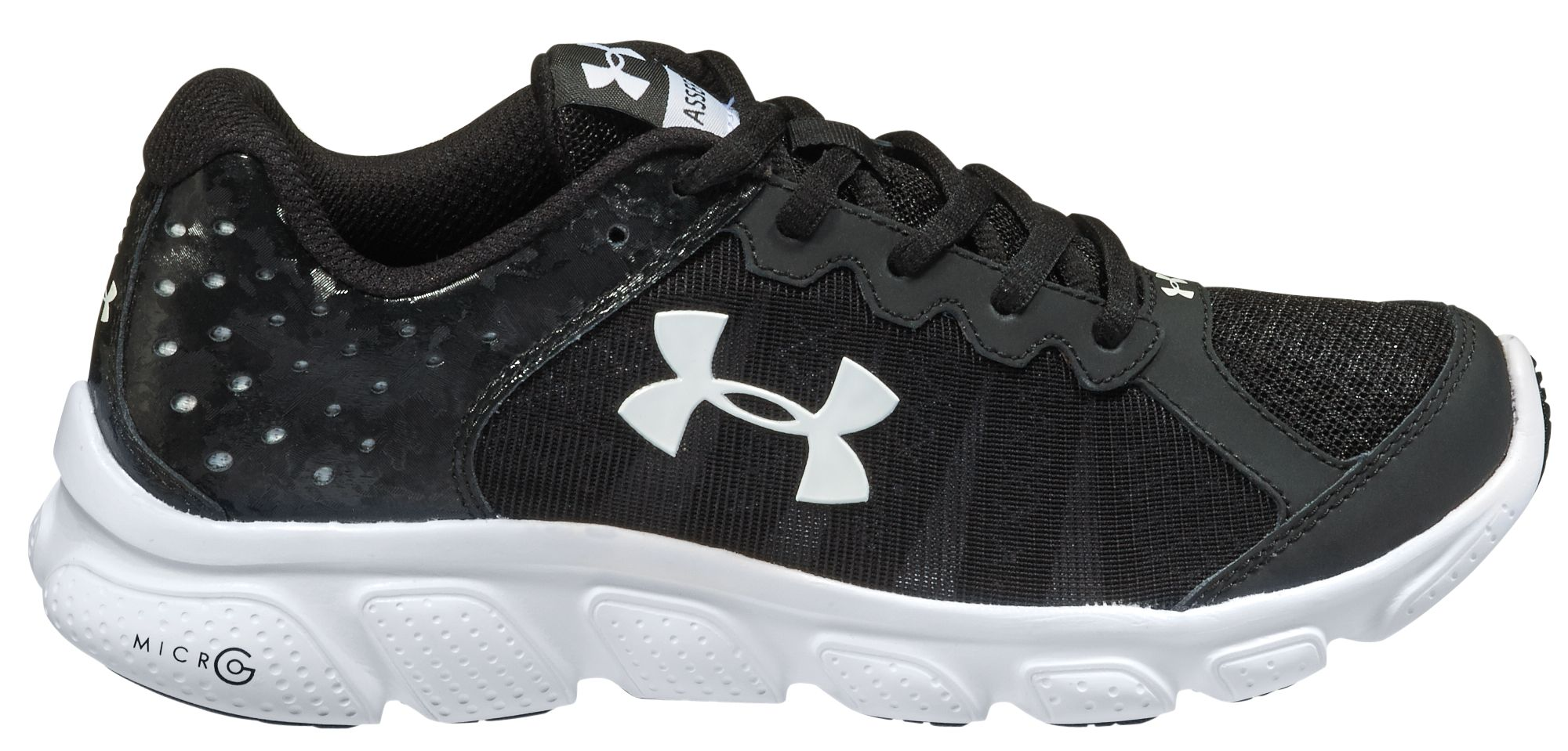 under armour shoes black. under armour kids\u0027 grade school assert 6 running shoes black c
