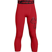 Under Armour Boys' Three Quarter Length Logo Leggings