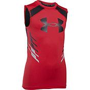 Under Armour Boys' HeatGear Armour Up Fadeaway Sleeveless Shirt