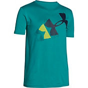 Under Armour Boys' Rising Pixelated Logo T-Shirt