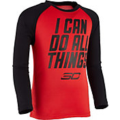 Under Armour Little Boys' SC Mantra Raglan Long Sleeve Shirt