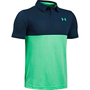 Under Armour Boys' Threadborne Blocked Golf Polo