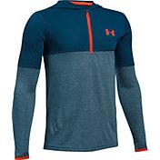 Under Armour Boys' Threadborne Siro Quarter-Zip Hooded Long Sleeve Shirt