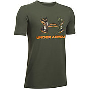 Under Armour Boys' Camo Fill Logo T-Shirt