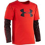 Under Armour Toddler Boys' Big Logo Power Slider Long Sleeve Shirt