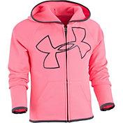 Under Armour Little Girls' Glitter Jumbo Big Logo Full-Zip Jacket