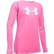 Under Armour Girls' Big Logo Long Sleeve Shirt