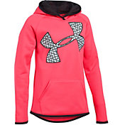 Under Armour Girls' Armour Fleece Jumbo Logo Hoodie