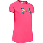 Under Armour Girls' Solid Big Logo Tech T-Shirt