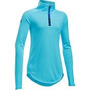 Under Armour Girls' Tech Quarter Zip Long Sleeve Shirt