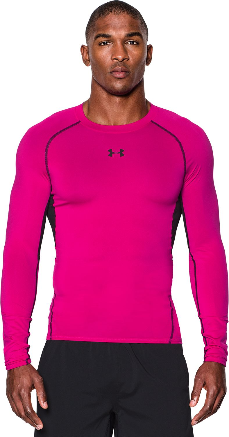 Under Armour Men's Power In Pink HeatGear Armour Compression Long ...