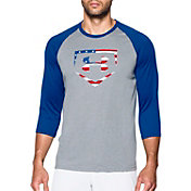 Under Armour Men's Baseball USA Three Quarter Sleeve Shirt