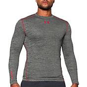 Under Armour Men's ColdGear Armour Twist Print Compression Crewneck Long Sleeve Shirt
