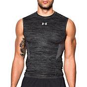 Under Armour Men's HeatGear CoolSwitch Twist Print Compression Sleeveless Shirt