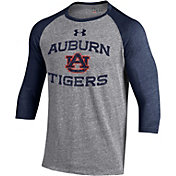 Under Armour Men's Auburn Tigers Grey Baseball T-Shirt