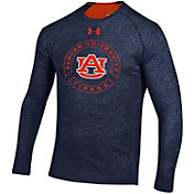 Under Armour Men's Auburn Tigers Blue Charged Cotton Long Sleeve T-Shirt