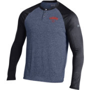 Under Armour Men's Auburn Tigers Blue Henley Long Sleeve Shirt