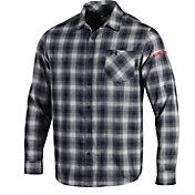 Under Armour Men's Auburn Tigers Blue Plaid Status Button Down Shirt