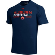 Under Armour Men's Auburn Tigers Blue Football Tech Performance T-Shirt