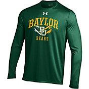 Under Armour Men's Baylor Bears Green UA Tech Long Sleeve Shirt