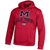 Under Armour Men's Ole Miss Rebels Armour Fleece Red Hoodie