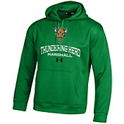Under Armour Men's Marshall Thundering Herd Armour Fleece Green Hoodie