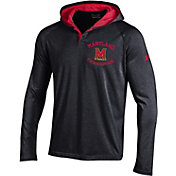 Under Armour Men's Maryland Terrapins Black Long Sleeve Hooded Shirt