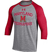 Under Armour Men's Maryland Terrapins Grey Baseball T-Shirt