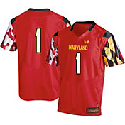 Under Armour Men's Maryland Terrapins #1 Red Replica Football Jersey