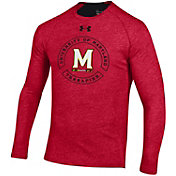 Under Armour Men's Maryland Terrapins Red Charged Cotton Long Sleeve T-Shirt