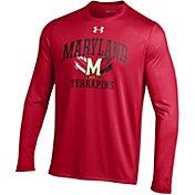 Under Armour Men's Maryland Terrapins Red UA Tech Long Sleeve Shirt