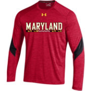 Under Armour Men's Maryland Terrapins Red Microthread Long Sleeve Shirt