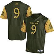 Under Armour Men's Notre Dame Fighting Irish Green #9 Shamrock Series Football Jersey