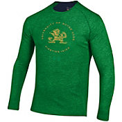 Under Armour Men's Notre Dame Fighting Irish Green Charged Cotton Long Sleeve T-Shirt